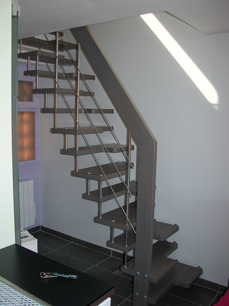Escalier japonais suspendu batinguage inox